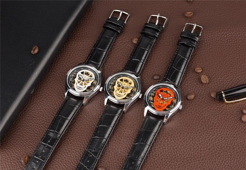 YISUYA Steampunk Esqueleto Reloj de pulsera Hombres Mano devanado - Relojes para hombres - foto 5
