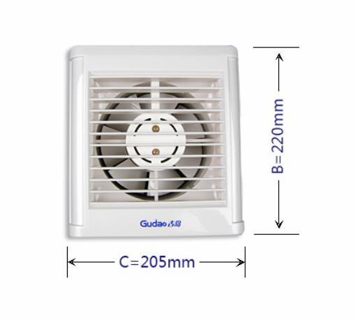 Freies Verschiffen Die Badezimmer Ventilator Fenster Wand Automatische  Shutter 6 Zoll Ball Abluftventilator(China (