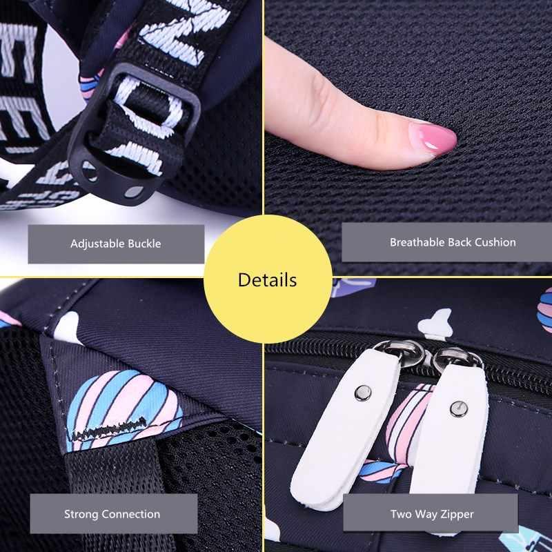 Mochila escolar con impresión Linda para niños okkids, mochilas escolares para adolescentes, mochilas impermeables grandes para niños, regalos, envío directo