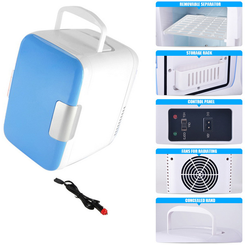 Icebox for Camping Driving Car Fridge Freezer Cooler Warm Use 12V Portable Travel Refrigerator blue hot sale ...