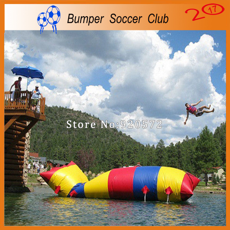 Free Shipping! Free Pump ! Good Price 8x2m Inflatable Water Blob,Aqua Blob Jump ,Water Catapult Blob