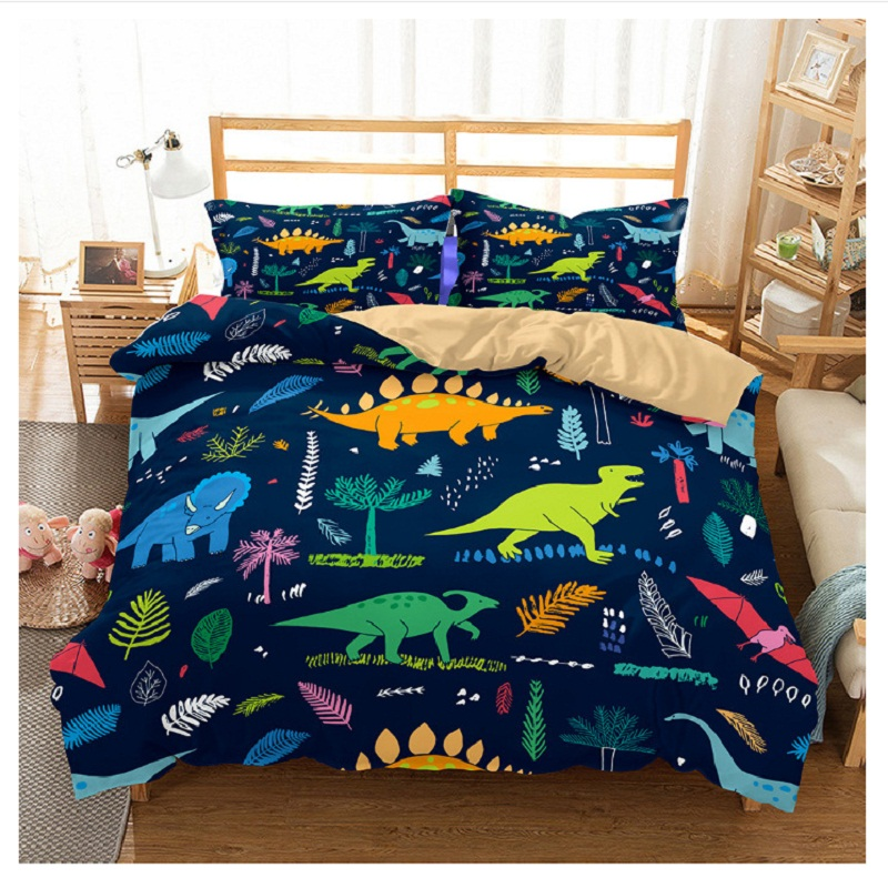 3D dinosaur bedding full for kids dinosaur bed covers queen size single dinosaur bed linen Bedclothes comforter bedding sets 6qq (2)