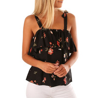 Womens Sexy Tee Off the Shoulder Strapless Crop Top Black Cropped 2018 T Shirt Print flower Loose Casual Summer T Shirt 251193