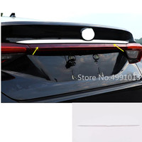 For Toyota Avalon XX50 2018 2019 2020 car styling body rear door license tailgate bumper frame plate trim trunk panel