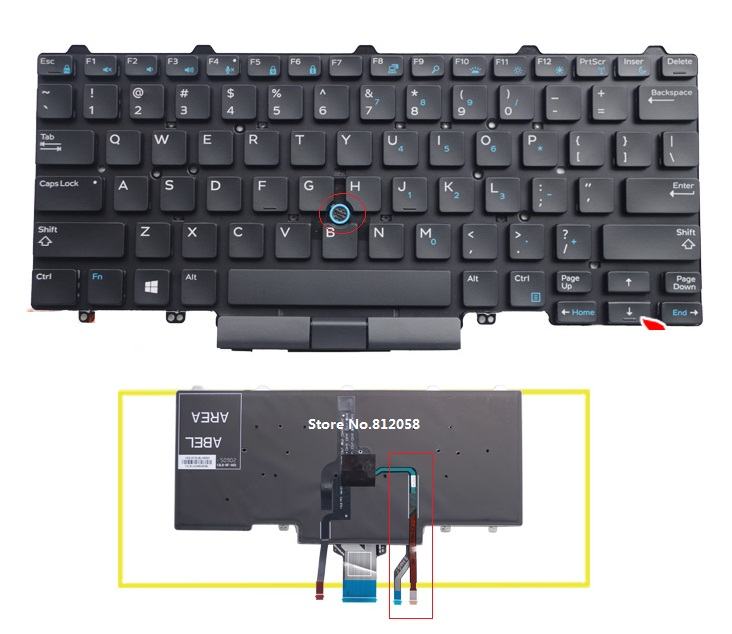 Brand New US Keyboard for DELL Latitude E5450 E7450 Laptop Keyboard without frame laptop us black new english replace laptop keyboard for dell latitude z600