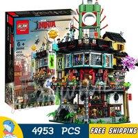 4953 шт. Новый Ninja великого творца городского строительства 06066 модель модульных блоков подростков игрушки Кирпичи совместимы с lego