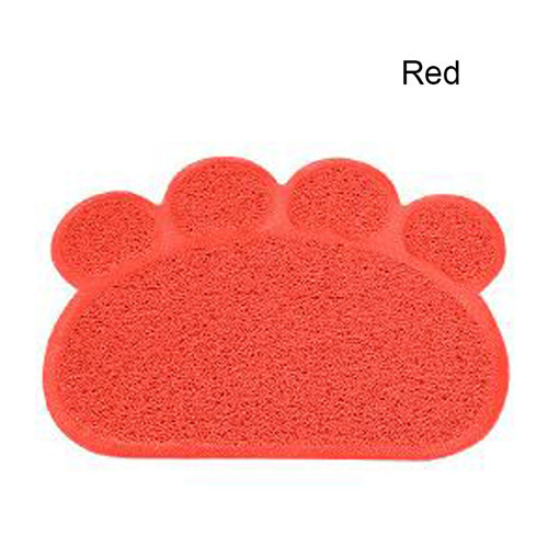 Top Quality Paw Shape Cat Litter Mat Puppy Kitten Dish Feeding Bowl Placemat Tidy Easy Cleaning Pad