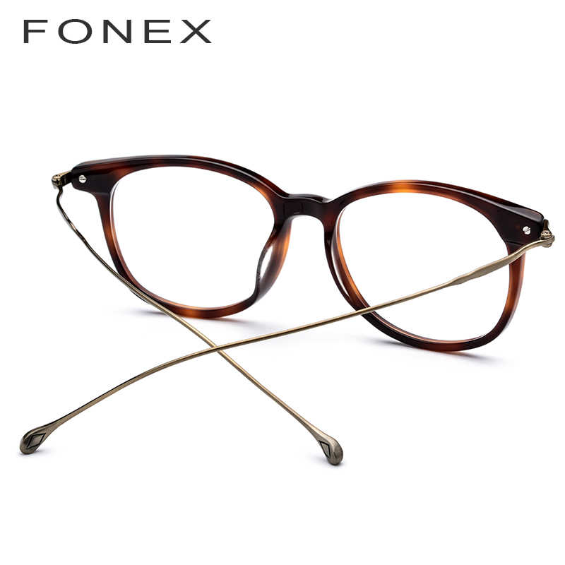 4e9a55dd96b ... Pure B Titanium Optical Glasses Frame Men 2019 New Fashion Vintage  Square Prescription Eyeglasses Women Myopia ...