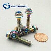 6 piecesTi 볼트 M6 M8 DIY MTB 티타늄 볼트 여러