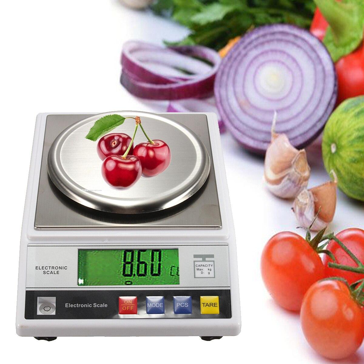 Nueva 7,5 V DC 200mA 2 kg LCD Digital escala eléctrica joyas Balance de peso Gram con enchufe de ee.uu.