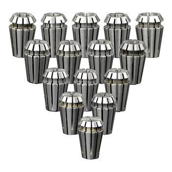 15pcs/lot ER11 Collet Spring Chuck Spindle Motor Lathe Tool Holder 3.175mm from 1-7MM for CNC Cutting