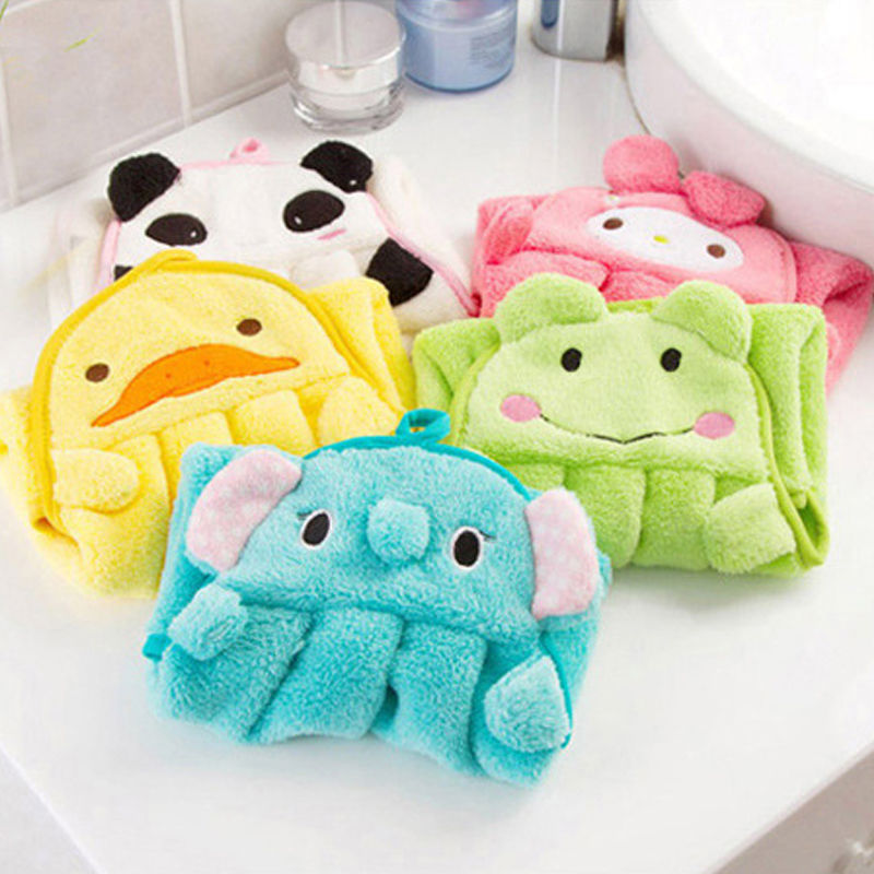 pudcoco Newest Arrivals Hot Baby Hand Towel Soft Childrens Cartoon Animal Hanging Wipe Bath Face Lovely Towel Multi Styles