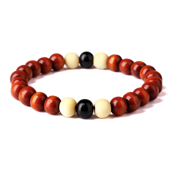 Natural Wooden Chakra Bracelet For Men