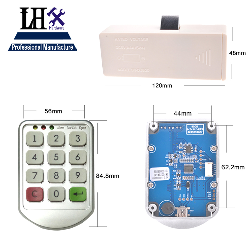 Image 5 - LHX Hardware Password Lock Digital Electronic Password Keypad Number Cabinet Code Locks Intelligent-in Locks from Home Improvement