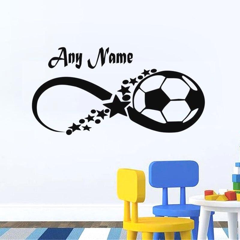 YOYOYU Wall Decal Custom Boys Name Football Star Personalized Vinyl Wall Sticker Baby Nursery Kids Bedroom Poster Decor YM-145