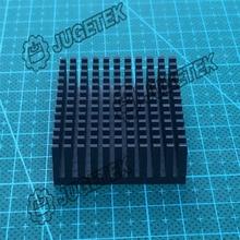 10pcs/lot 40mm length 40mm width 11mm height High Quality Super Heat Conduction Aluminum Black Heatsink(China (Mainland))