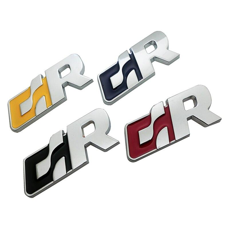 De Metal pegatinas de coche emblema etiqueta para Volkswagen R de VW Golf Passat Tiguan CC Sagitar Touareg SR GR forma de coche accesorios de coche