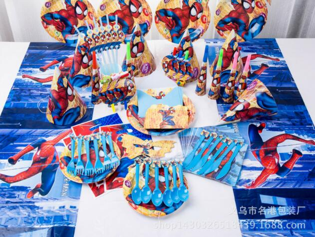 Spiderman Candy plastic bags Kids Birthday Party Supply 20 Pcs Set