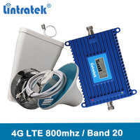 Lintratek 4G LTE 800 sinyal tekrarlayıcı bant 20 4G ağ 800mhz mobil sinyal güçlendirici 70dB kazanç lcd ekran 4G amplifikatör kiti @ 6.7