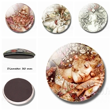 Cute Princesses 30 MM Fridge Magnet Glass Dome Ornaments Cartoon Fairy Tale Refrigerator Magnets Decoration Home Decor