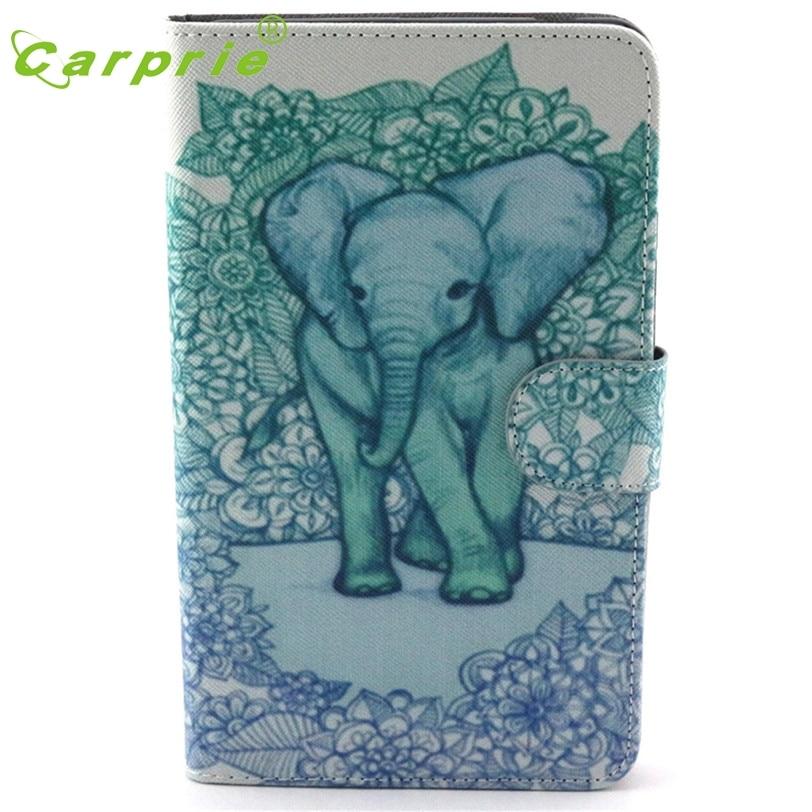 CARPRIE Elephant Flip Leather Case For Samsung Galaxy Tab 4 7Inch Tablet SM-T230 Feb24 MotherLander