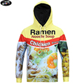 Europe and America youth fashion 3D Ramen noodle printed hooded sweatshirts men 's Harajuku man assassins creed hoodies