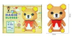 Image 2 - באבו cartoon מייק מפלצת אוניברסיטת בעלי החיים כלב חתול ילדים פלסטיק בניין בלוק פעולה דמויות בני חינוכיים צעצוע 8801 8808