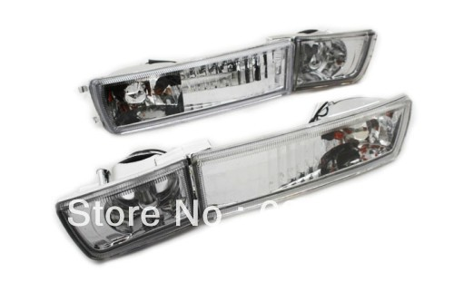 Clear Crystal Style Euro Bumper Fog & Turn Signal <font><b>Lights</b></font> For <font><b>VW</b></font> Volkswagen <font><b>Golf</b></font> <font><b>MK3</b></font> image