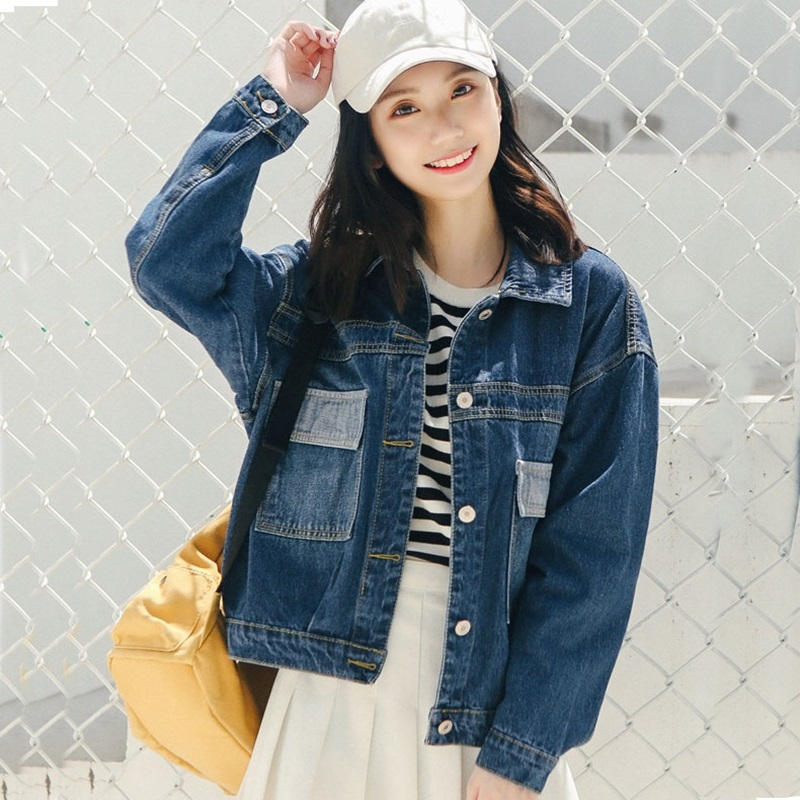 0066762152e7 Streetwear Mode 2018 2 Vestes Hiver Automne Veste Femmes Denim Dames 1 Jeans  Femelle Jean Ta637 Survêtement SBzqw