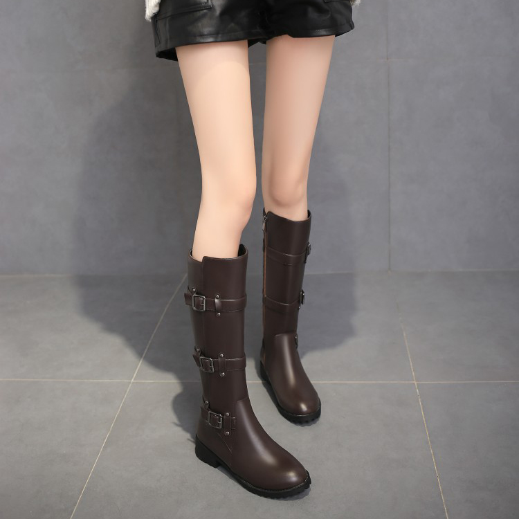Big Size 11 12 13 14 15 16 17 18 19 Round-headed, thick-heeled, square-heeled, side zipper, high-cylinder Knight bootsBig Size 11 12 13 14 15 16 17 18 19 Round-headed, thick-heeled, square-heeled, side zipper, high-cylinder Knight boots