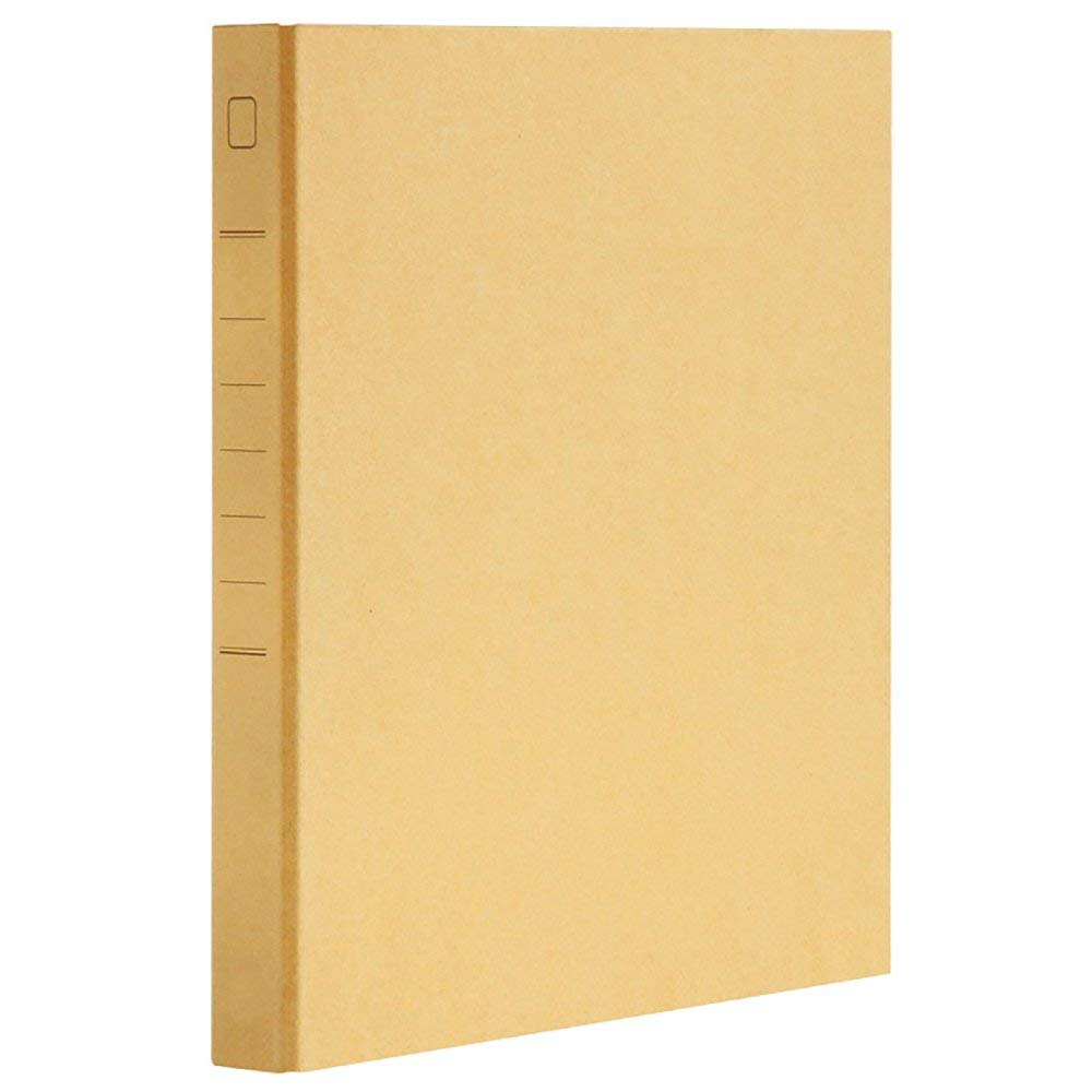 Kraft Paper File Folder 1 Inch 2 D Ring Binder Office Manager Clip Writing Pads Legal Paper Contract