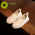 JRQIOT 2017 New Spring Leather Shoes Solid White Lazy Shoes PU Fashion Kids Comfortable Boys Girl Shoes