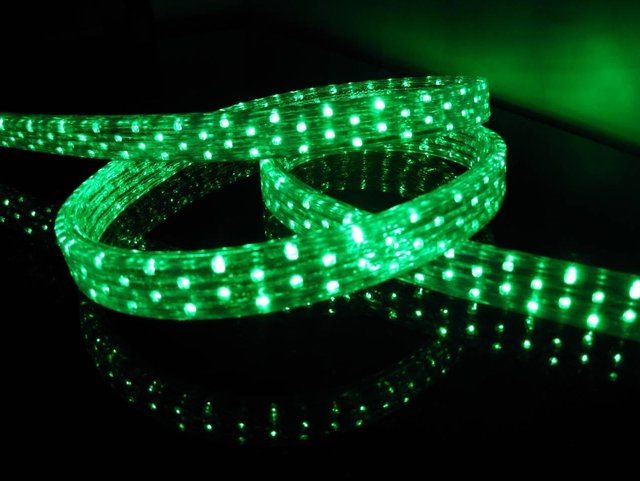 100m/roll LED 5 wires flat rope light;36leds/m;size:11mm*28mm;DC12V/24V/AC110/220V are optional;green color