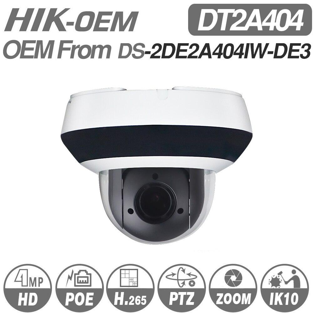 Câmera PTZ IP Hikvision Original DS-2DE2A404IW-DE3 Atualizável 2.8-H.265 12mm 4x Zoom com POE CCTV De Vigilância Por Vídeo