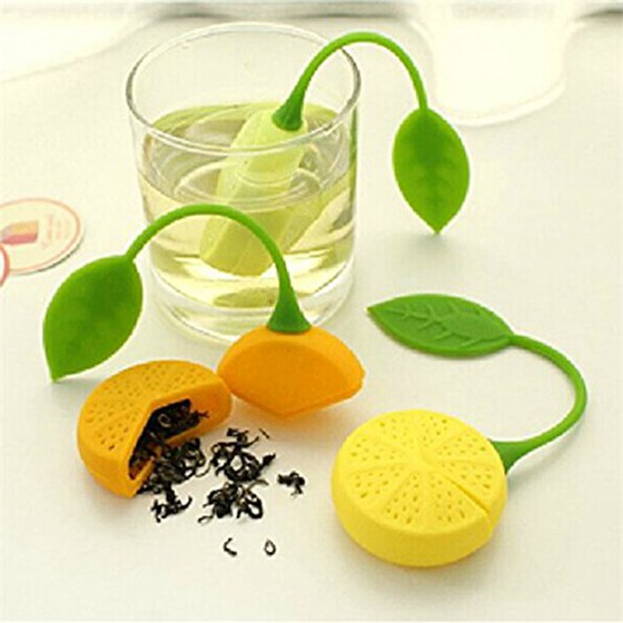 water Strainer Silicone Strawberry Lemon Design Loose Tea Leaf Strainer Bag Herbal Spice Infuser Filter Tools lemon design chain bag