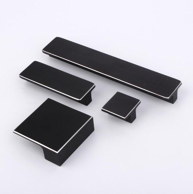 5 Styles Modern Black Cabinet Handles Knobs Dresser Pull Knob Drawer Pulls  Rectangular Modern Kitchen Hardware