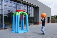 Durable New Games inflatable Airtight Basketball game/ inflatable slam dunk basketball for sale