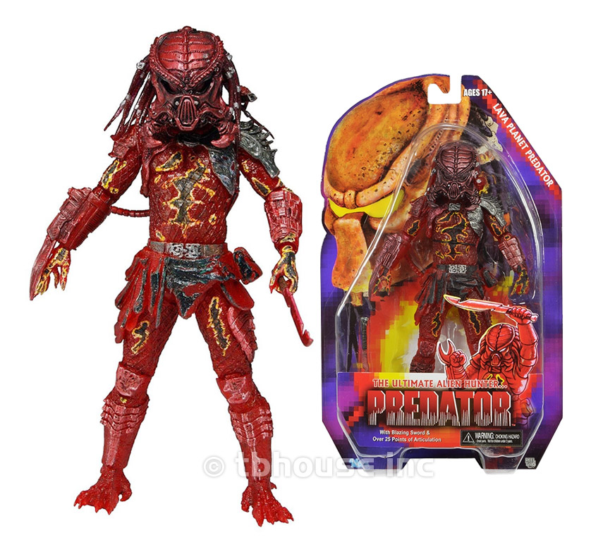 NECA Movie Predator VS Alien Science Monster Rare Color Hive War Lava Planet Predator Toys Action figure Model free delivery of genuine neca predator alien p1 ganso soldier elder predator model