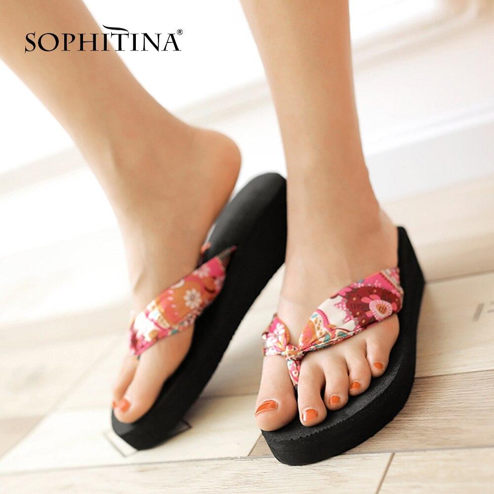 SOPHITINA, zapatillas de China, zapatillas cómodas, zapatos de banda con diseño especial, zapatillas para mujer SO206
