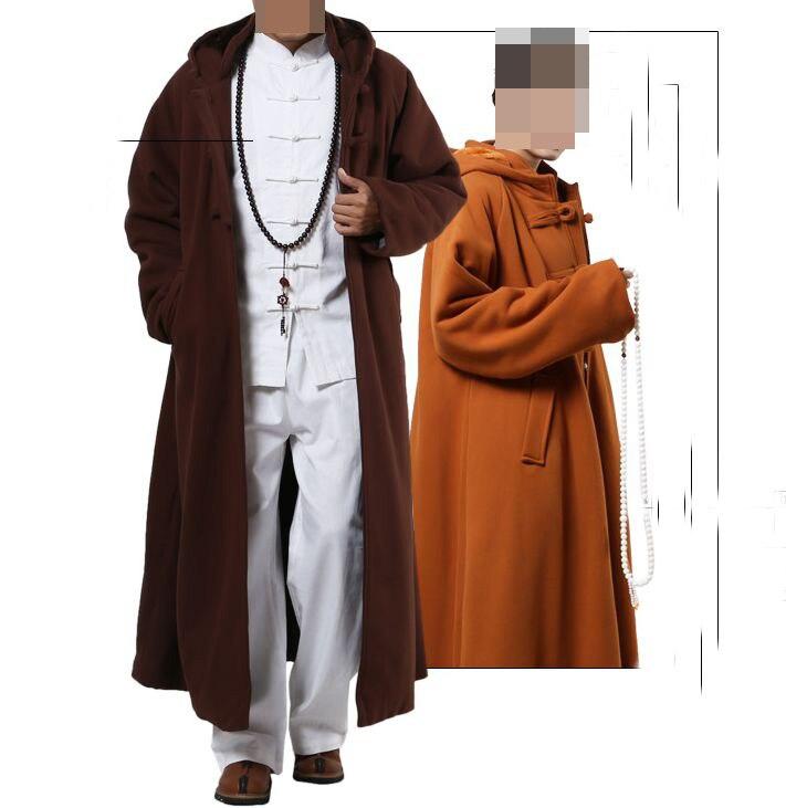 unisex 4color cotton meditation cloak robe zen Warm Buddhist Monk suits nun winter lay clothing martial