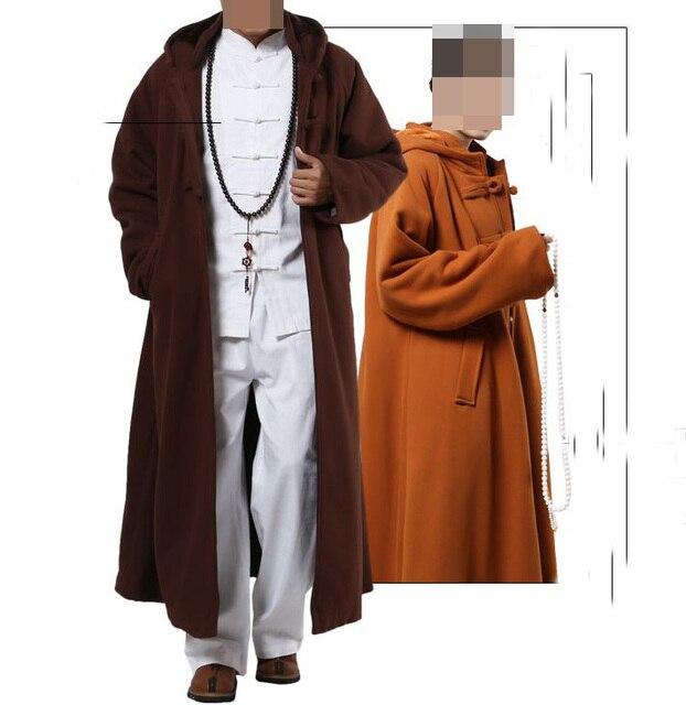 Унисекс, 4 цвета, хлопковый плащ для медитации, халат дзен, теплые буддийские монашеские костюмы, nun, зимняя одежда для отдыха, Боевая мантия, накидка