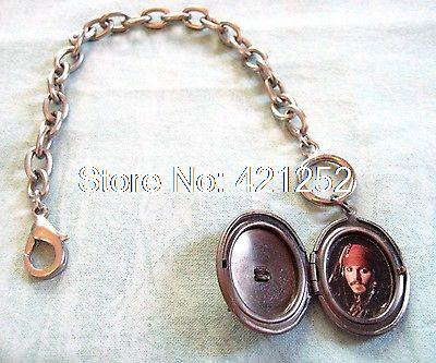 12pcs Lot Pirates Of The Caribbean Bracelet 9 Jack Sparrow Locket Charm Skull In Bracelets From Jewelry Accessories On Aliexpress Alibaba