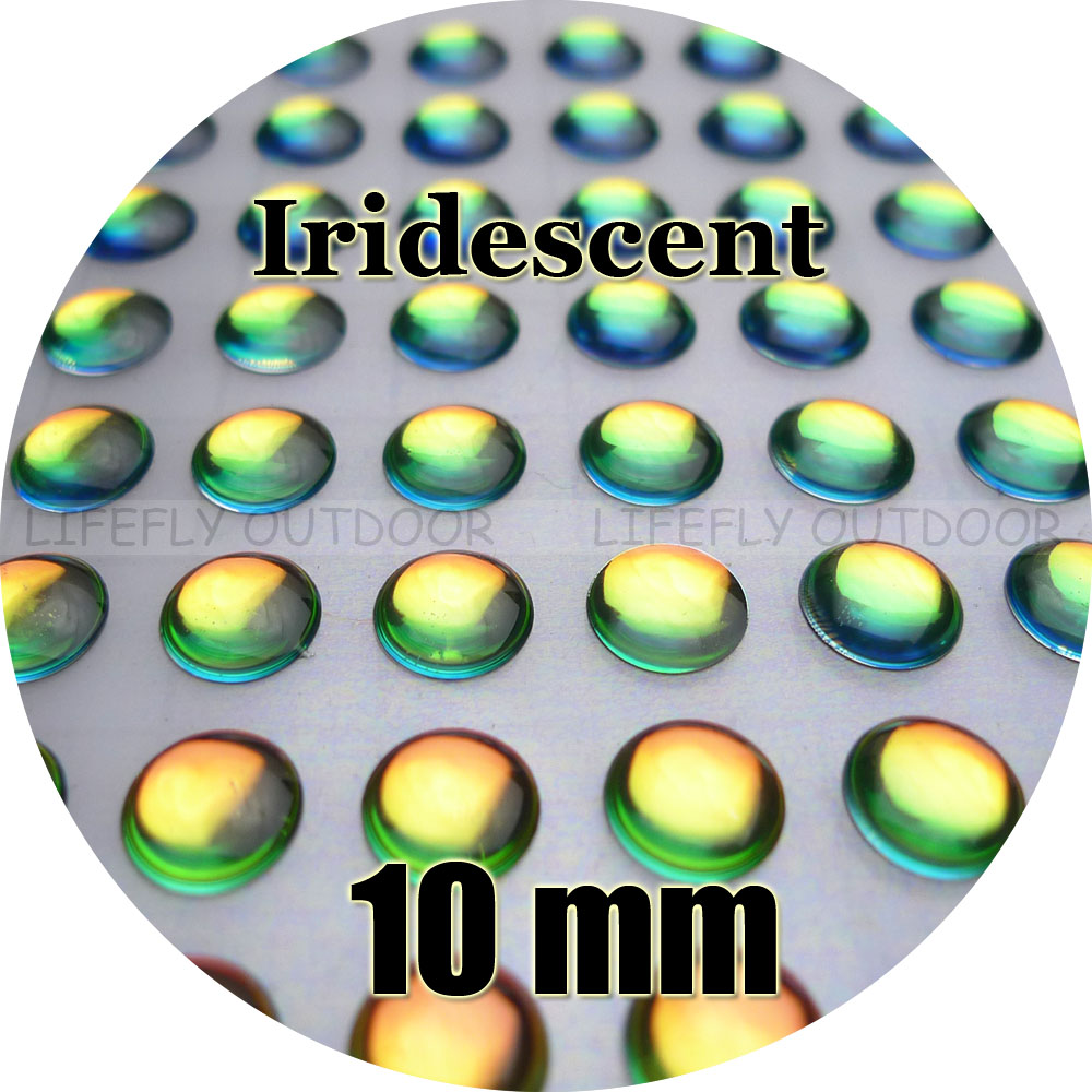 10mm 3D Iridescente #1/Atacado 250 Macio Moldado 3D Olhos de Peixe Holográficas, Amarração da Mosca, jig, Isca Fazer