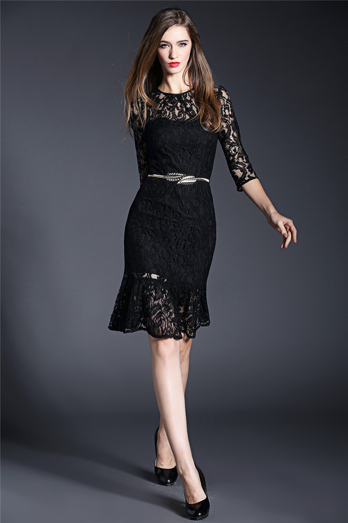 2015 Downton Abbey High Quality Luxury Merlons Hollow Out Lace Dress Green  and Black-in Dresses from Women s Clothing on Aliexpress.com  985d2e169afb