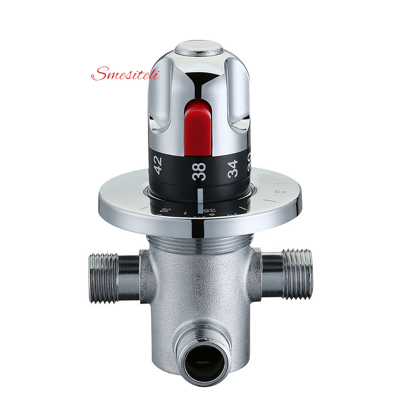 Smesiteli оптом и акции все латунь хром смешивания Клапан термостатический Душевые системы Температура воды Управление G1/2''