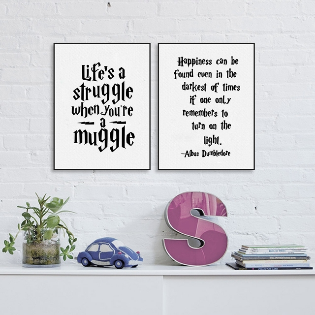 Albus Dumbledore Wall Art Decor Canvas Prints Poster  Harry Potter Quote Canvas Painting Home Kids  sc 1 st  AliExpress.com & Albus Dumbledore Wall Art Decor Canvas Prints Poster  Harry Potter ...