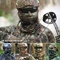 Trecho Camo Tático Ao Ar Livre Militar Airsoft Caça Motocicleta Paintball Balaclava Scarf Metade Máscara Facial Bandana Lenços Wraps