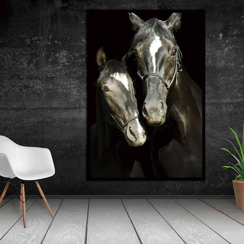 Canvas Paintings Wall Picture HD Animal Decorative Horses Pictures Printed Canvas Wall Art Home Decor  For Living Room no frame
