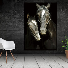 HD Animal Decorative Horses Pictures Printed Canvas Wall Art Home Decor Modular Paintings For Living Room sunset horses pattern unframed decorative canvas paintings