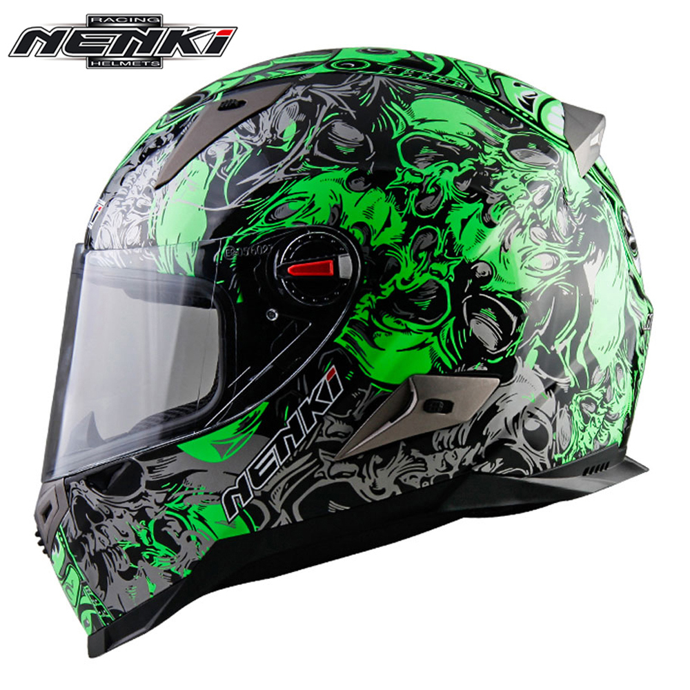 NENKI Motorcycle Helmet Chopper Scooter Cruiser Full Face Helmet Touring Motorbike Helmet Men Women Racing Street Moto Casco ECE nenki motorcycle helmets motocross racing helmet motorbike full face helmet capacete de moto for men and women 13 color